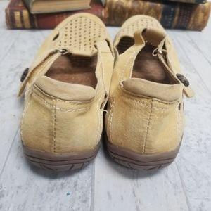 Earth Origins Shoes - Earth Origins Tan Swirl Leather Mary Jane Size 9